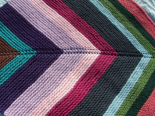 stripy baby blanket